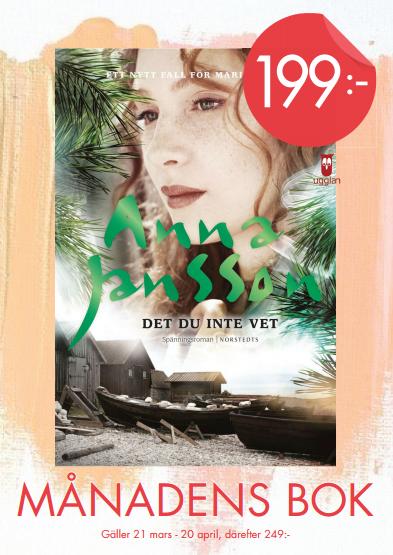 Månadens Bok – Det du inte vet, Anna Jansson